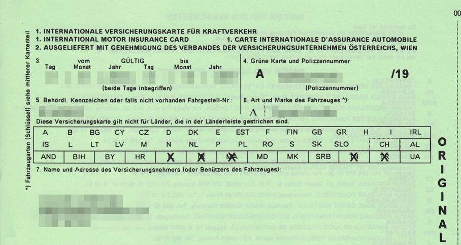 Žalioji kortelė – tarptautinis draudimo liudijimas