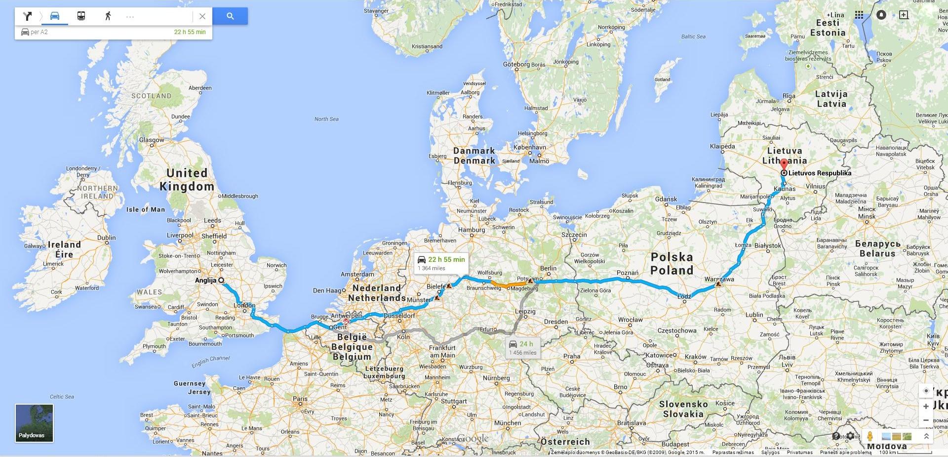 Krovinių pervežimas. Lietuva – Anglija – Lietuva